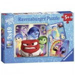 Ravensburger-09370 3 Puzzles - Disney Pixar: Inside Out
