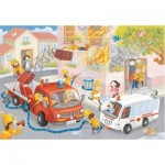 Puzzle  Ravensburger-09641 Intervention des Pompiers
