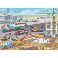 Puzzle  Ravensburger-10624 Chantier de Construction à l'Aéroport