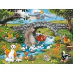 Puzzle  Ravensburger-10947 La famille d'animal friends
