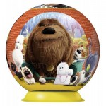 Ravensburger-12216 Puzzle 3D - The Secret Life of Pets