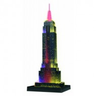 Ravensburger-12566 Puzzle 3D avec LED - Empire State Building by Night