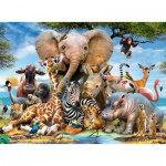 Puzzle  Ravensburger-13075 Bébés Animaux de la Jungle