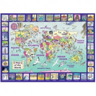 Puzzle  Ravensburger-13190 Looking at the World