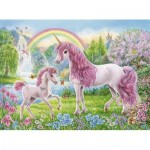 Puzzle  Ravensburger-13698 Coloring Booklet - Licornes Magiquess