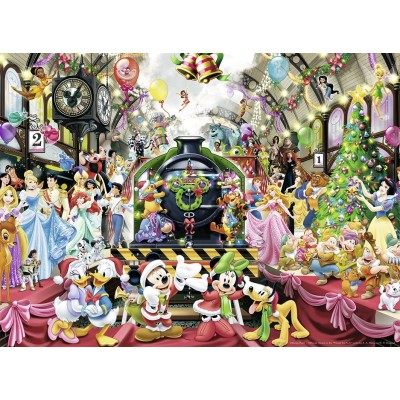 Puzzle Ravensburger-14739 Le Train de Noel Disney