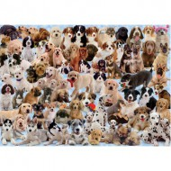 Puzzle  Ravensburger-15633 Collage canin