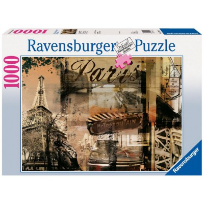 Puzzle Ravensburger-15729 Paris nostalgique