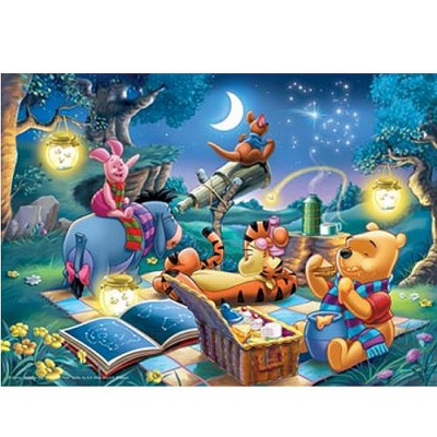 Puzzle Ravensburger-15875 Winnie l'Ourson : Observation des étoiles