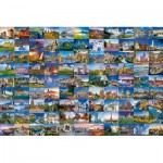 Puzzle  Ravensburger-17080 99 Plus Beaux Lieux d'Europe