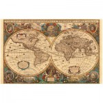 Puzzle  Ravensburger-17411 Mappemonde antique