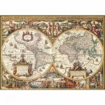 Puzzle  Ravensburger-19004 Carte du monde ancienne