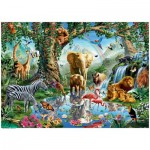 Puzzle  Ravensburger-19837 Aventures dans la Jungle