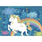 Puzzle  Ravensburger-19932 Do it Yourself - Licorne Heureuse
