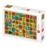 Puzzle  Deico-Games-77134 Pattern Forest Animals