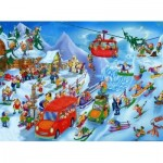 Puzzle  DToys-61218-CC05 Cartoon Collection - Hiver