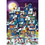 Puzzle  DToys-61218-CC07-(70869) Cartoon Collection - Pagaille de Noël