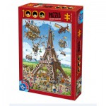 Puzzle  Dtoys-61218-CC11-(74683) Cartoon Collection - Construction de la Tour Eiffel
