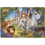 Puzzle  Dtoys-61393-AN-04 La fête des animaux de la jungle