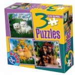 Dtoys-63045-AP-01 3 Puzzles animaux