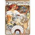Puzzle  DToys-66930-MU04-(70098) Mucha Alphonse - Biscuits Lefèvre-Utile