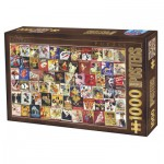 Puzzle  Dtoys-67555-VP12 Collection Vintage - Cabaret