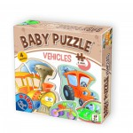 Dtoys-71279-BP-01 4 Puzzles - Baby Puzzle: Véhicules