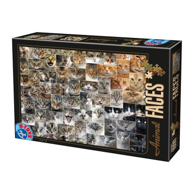 Puzzle Dtoys-74331-AF02-(75260) Collage - Chats