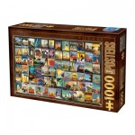 Puzzle  Dtoys-74362-VC02-(74621) Vintage Collage - Voyage