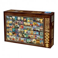 Puzzle  Dtoys-74362-VC02 Vintage Collage - Voyage