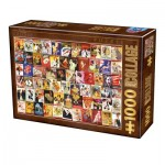 Puzzle  Dtoys-74362-VC06 Vintage Collage - Cabaret