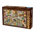 Puzzle  Dtoys-74362 Vintage Collage - Thés