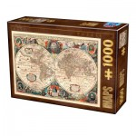 Puzzle  Dtoys-75710 Carte du Monde Antique