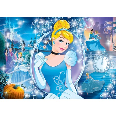 Clementoni-20132 Puzzle Brillant - Disney Princess
