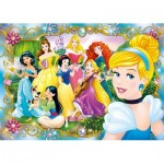Clementoni-20147 Jewels Puzzle - Disney Princess