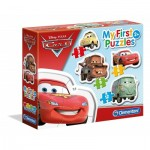 Clementoni-20804 4 Puzzles - My First Puzzles - Cars