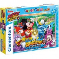 Puzzle  Clementoni-23715 Pièces XXL - Mickey and the Roadster Racers