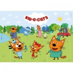 Puzzle  Clementoni-25707 Kids and Cats