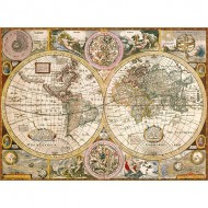 Puzzle  Clementoni-33531 Carte Antique