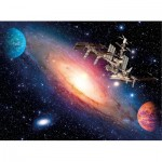 Puzzle  Clementoni-35075 Station Spatiale Internationale