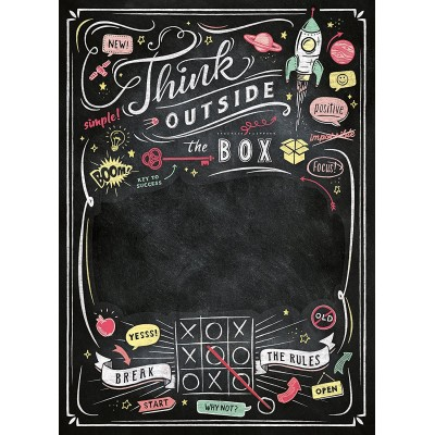Clementoni-39468 Puzzle Tableau Noir - Think Outside the Box