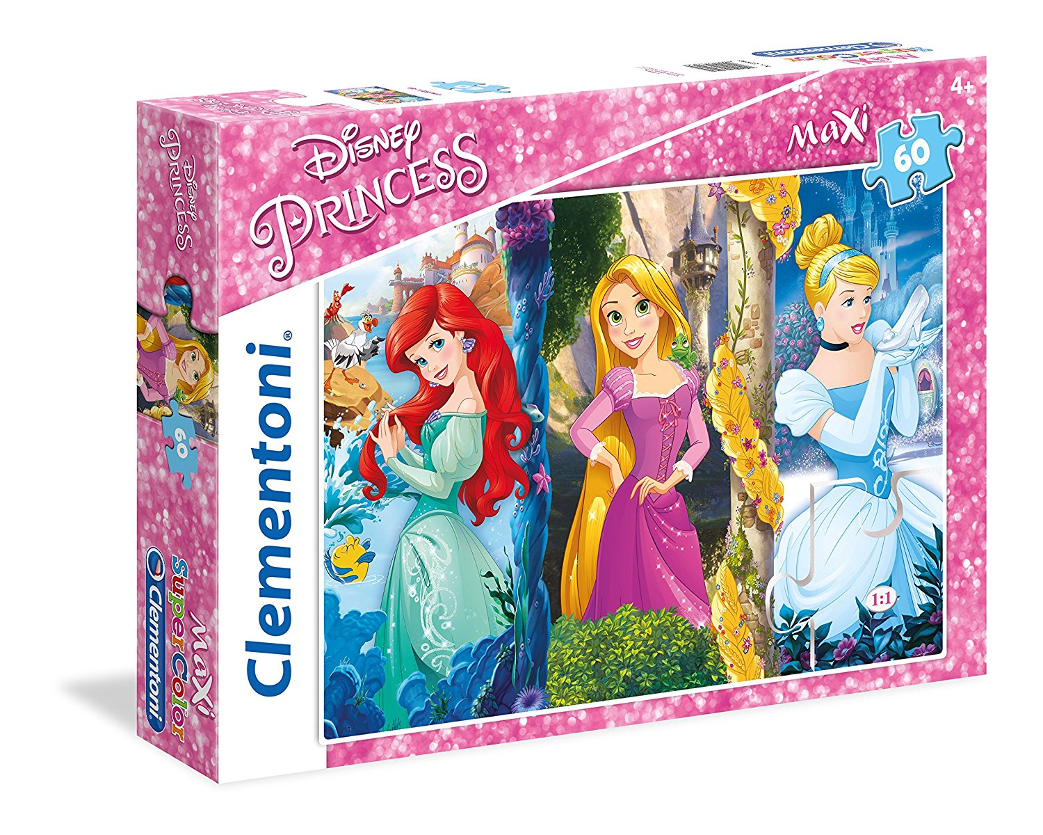 pi ces xxl disney princess 60 teile clementoni puzzle acheter en ligne. Black Bedroom Furniture Sets. Home Design Ideas
