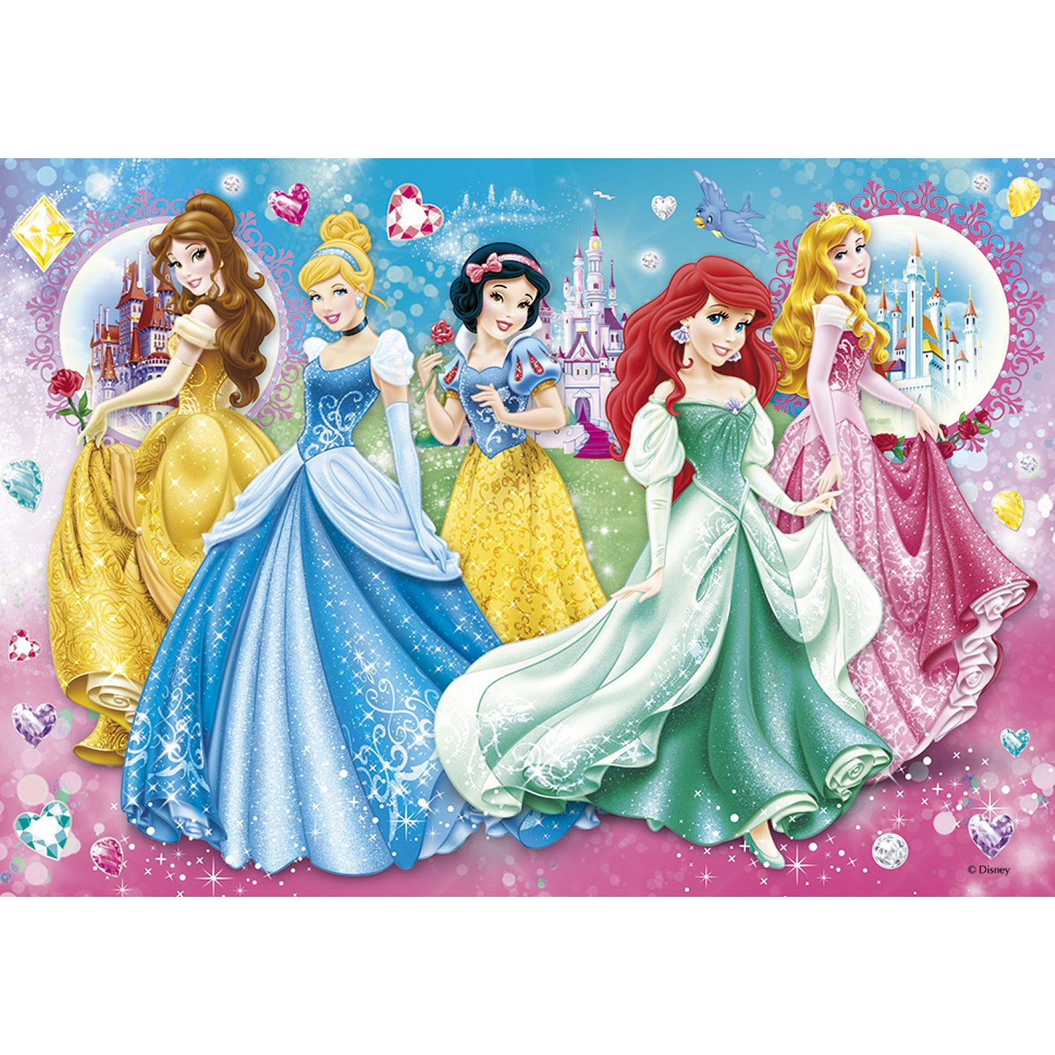 princesses disney 104 teile clementoni puzzle acheter en ligne. Black Bedroom Furniture Sets. Home Design Ideas