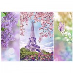 Puzzle  Trefl-10409 Le Printemps à Paris