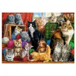 Puzzle  Trefl-10555 Cats Meeting