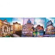 Puzzle  Trefl-29505 Collage - Rome
