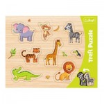 Trefl-31308 Puzzle Cadre - Animaux Sauvages