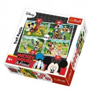 Trefl-34261 4 Puzzles - Mickey Mouse & Friends