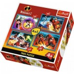 Trefl-34306 4 Puzzles - Incredibles 2