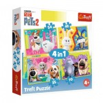 Trefl-34319 4 Puzzles - The Secret Life of Pets 2